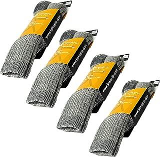 Wool Socks, Men and Women Hiking Gear Thick Merino Wool, USA Made 4 Pack, Large