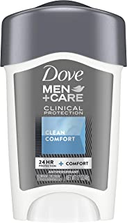 Dove Men+Care Antiperspirant Deodorant For Men Solid For Odor and Sweat Protection Clean Comfort Clinical Strength Deodora...