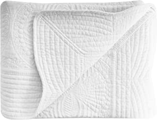 AshopZ Lightweight All Weather Embossed Quilt for Babies and Infant, White, 36 inches x48 inches