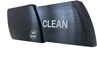 Premium Metal Dishwasher Magnet Clean Dirty Sign | ONLY BLACK #1 Indicator - Best Kitchen Gadgets Dishwashers - Home Office Organization, Padded Magnets or 3M Tabs (Metal - Black)