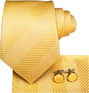 pocket square with yellow tie