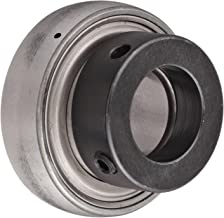 SKF YET 206-104 Ball Bearing Insert, Double Sealed, Eccentric Collar, Regreasable, Steel, 1-1/4