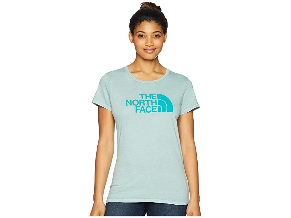 The North Face Short Sleeve 1/2 Dome Pigment Crew Tee (Blue Haze/Porcelain Green) Women
