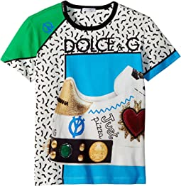 Dolce & Gabbana Kids - Scarpe Print T-Shirt (Big Kids)