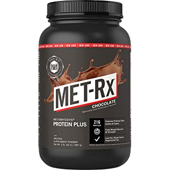 MET-Rx Metamyosyn Protein Plus Whey Isolate and Casein Protein Powder, Great for Meal Replacement Shakes, Low Carb, Gluten Free, Chocolate, 2 lbs