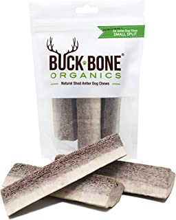 Buck Bone Organics Antlers for Dog, Elk Dog Bone ~ Small Split 4