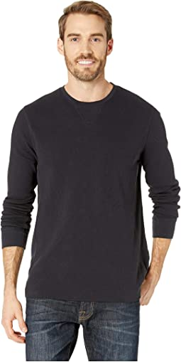 Box Stitch Thermal Crew Neck Tee