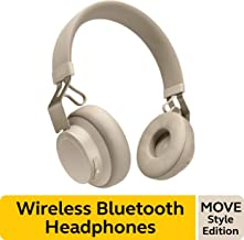 Jabra Move Style Edition, Beige – Wireless Bluetooth Headphones with Superior Sounds Quality, Long Battery Life, Ultra-Light and Comfortable Wireless Headphones, 3.5 mm Jack Connector Included