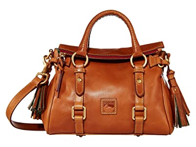 Dooney & Bourke Florentine Micro Satchel (Natural/Self Trim) Handbags