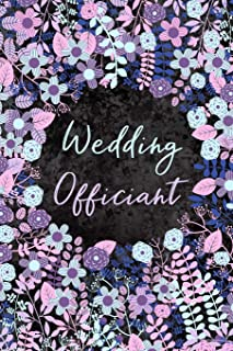 Wedding Officiant: Cute and Elegant Blue, Pink and Violet Floral Journal With Blank Lined Pages for Journaling, Writing Wedding Party Ideas, Notes, Lists and Tasks