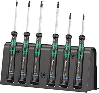 WERA 2052/6 Hexagon screwdriver set and rack for electronic applications, 6 pieces