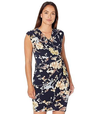 LAUREN Ralph Lauren Petite Floral Pleated Surplice Dress