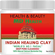 MD Health Indian Healing Clay - 100% Natural Calcium Bentonite Clay - Best Deep Pore Cleansing Mask - 1lb