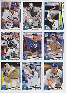 San Diego Padres 2014 Topps MLB Baseball Regular Issue Complete 21 Card Team Set with Huston