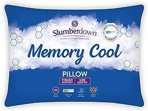 Slumberdown Het Bedkussens van het geheugenkoelwitte Hoofdkussen Stevige Steunbed voor Rug- en Zijslapers Ontworpen