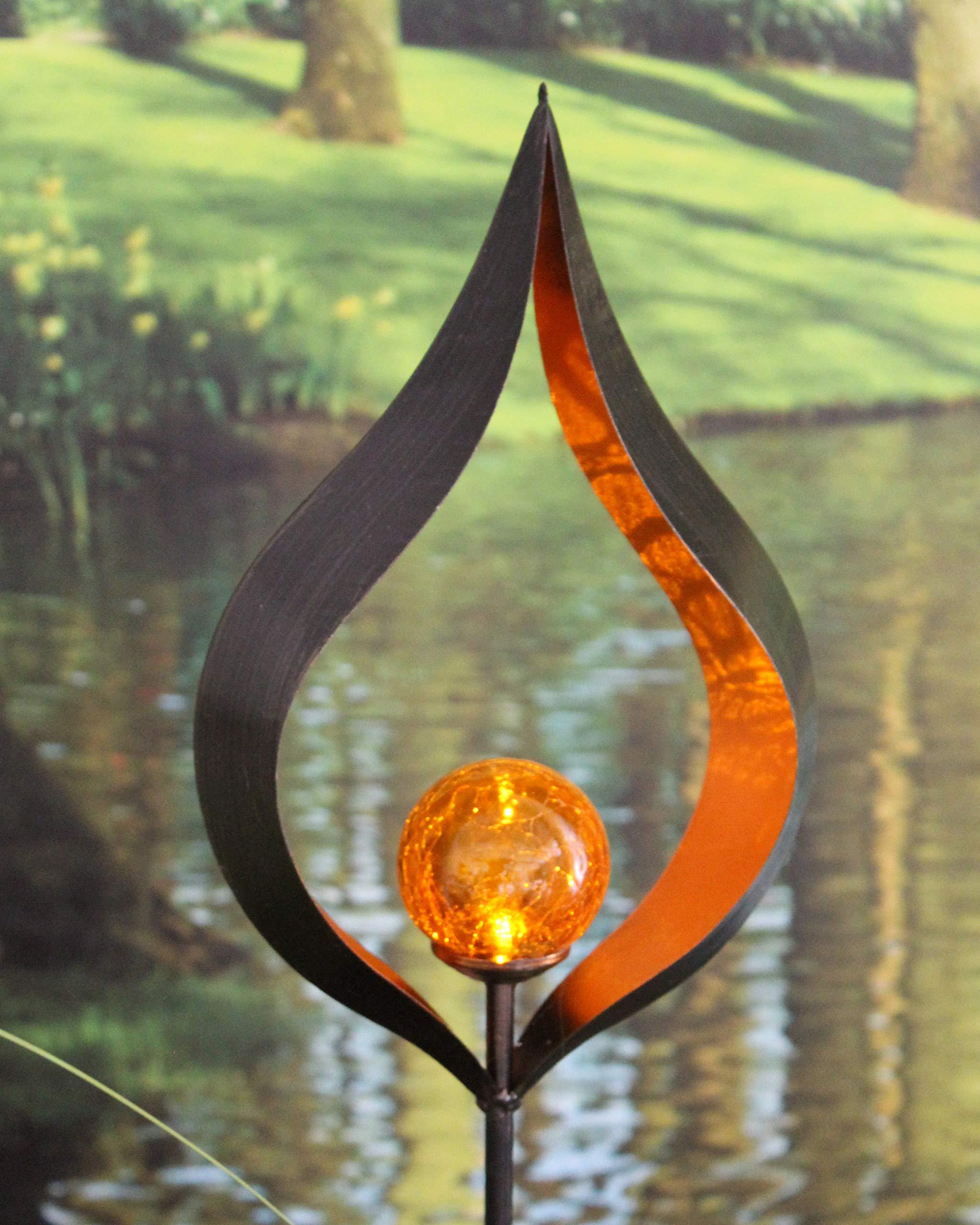 Kamaca Pisa - Farol solar LED (3 funciones: barra de jardín, farol ...