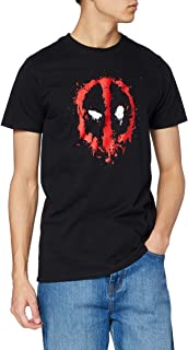 Marvel Men's Deadpool Paint Logo
