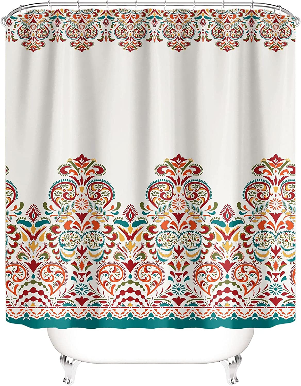 Boho Shower Curtain Bohemian Colorful 2021new shipping free shipping Large-scale sale Bathroom Design B for Bold