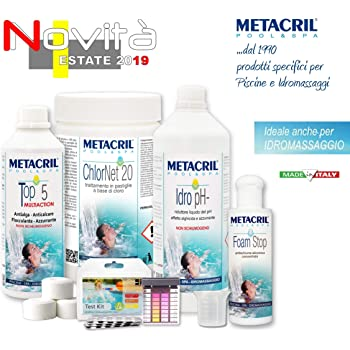 Metacril Pool Kit 2019 Tratamiento Agua Piscina a Base de Cloro en ...