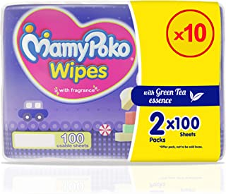 MamyPoko Wipes Mega Value Box, Pack of 10 x 200 Sheets, (2000 Wipes)