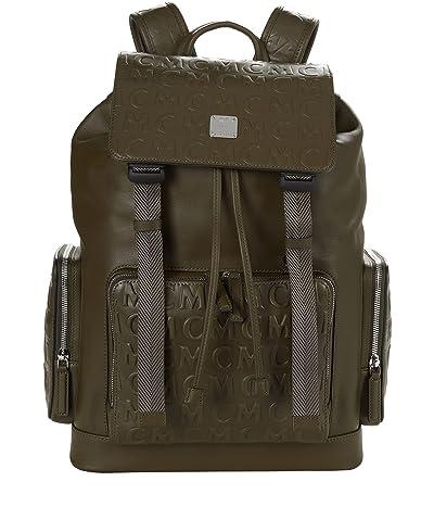 MCM Brandenburg Monogram Leather Backpack Medium