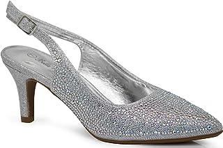 60514f0b90a1d Enzo Romeo Jupiter Women s Pointy Toe High Mid Heel Sexy Ankle Strap Sandals  Ballerina Dress Pump