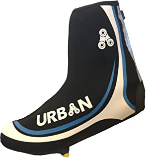 Urban Cycling Shoe Covers with Reflective Zipper - Windproof, Waterproof Neoprene Overshoes for Road and MTB, All Clip Shoe Types