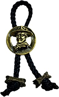 Boy Scout Neckerchief Slide Baden Powell with 2 Beads Woggle Item No.WK103-2