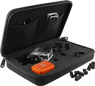Fall mit vollständig anpassbaren Innen für GoPro Hero 6/5 Black, Session, 4 Black, Silver, Session, 3+, 3, 2, 1 und Zubehör   Tailor den Fall   Reisen oder Home Storage   Mikrofaser Reinigungstuch