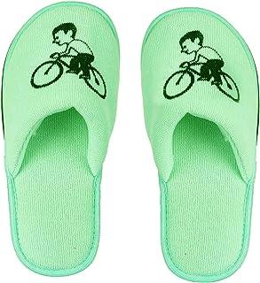 MF Kids Fashion Slipper Bcycle Printed Black Eva Anti Skid Sole