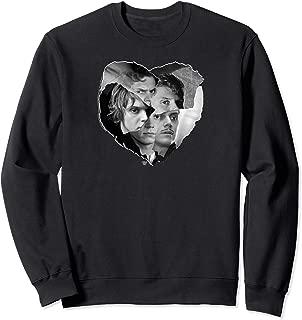 American Horror Story Evan Peters Cut Paper Heart Collage Sweatshirt
