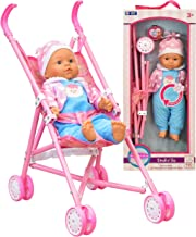 My First Baby Doll Stroller – Soft Body Talking Baby Doll Included Fun Play Combo..