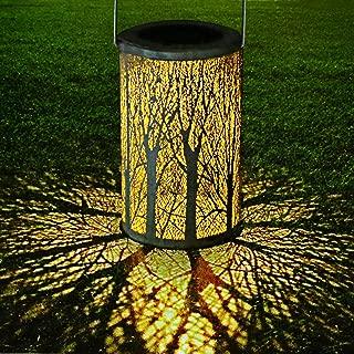 Philonext Solar Lantern Lights, Outdoor Hanging Lantern, Lights Lamp for Patio,IP44 Waterproof Garden Light Cylinder Night Light Tree Lanterns