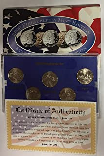 2000 P Philadelphia Mint Edition State Quarter Collection w/Box BU