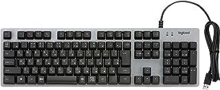 Logicool ロジクール K840 メカニカルキーボード 108フルキー 日本語レイアウト ROMER-G 26キー ロールオーバー対応 アルミニウムボディ USB 有線接続