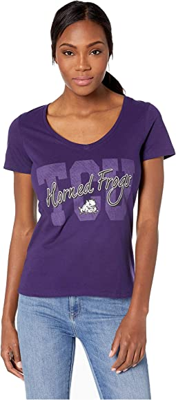 TCU Horned Frogs University V-Neck Tee