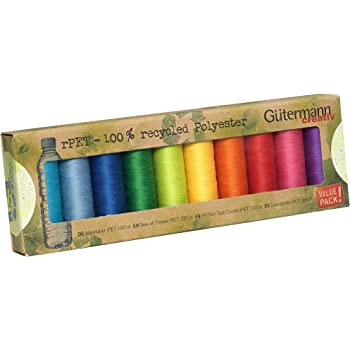 One Size Gutermann Assorted Sewing Thread Set 100mtr reels Plus 10 x Prym Bobbin Clips