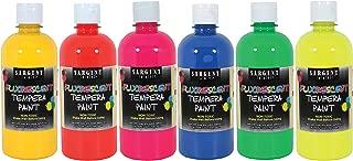 Sargent Art 17-5700 16 oz Fluorescent Tempera Paint Set, 6 Piece