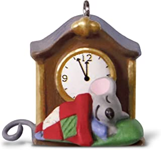 Hallmark Keepsake Mini Christmas Ornament 2018 Year Dated, A Creature Was Stirring Mouse by Clock Miniature, 1