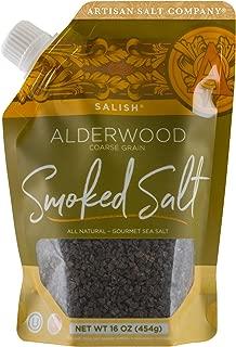 SaltWorks Salish Alderwood Smoked Sea Salt, Coarse, Pour Spout Pouch, 16 Ounce