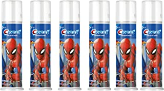 Crest Kid's Cavity Protection Toothpaste Pump Featuring Marvel's Spiderman, Blue Bubblegum, 4.2 Oz, Ages 3+ (Pack of 6)