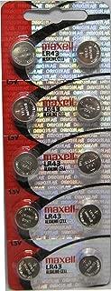 20 Maxell Lr43 AG12 186 Alkaline Batteries, New hologram packaging
