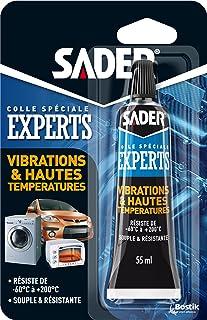 Sader Colle Vibrations et Hautes Températures – Colle Souple Extra Forte – Colle Hautes Températures Four – Idéale pour Él...