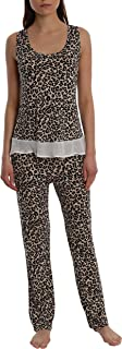 Blis Women's Light and Airy Sleepwear Set Flowy Racerback Tank Top & Pajama Bottoms