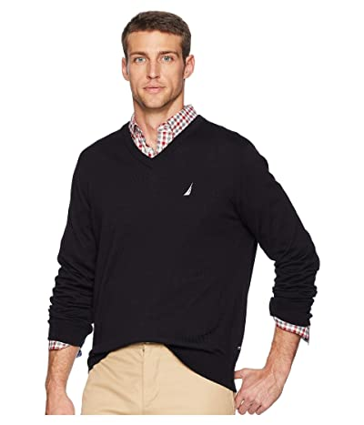 Nautica V-Neck Sweater (True Black) Men