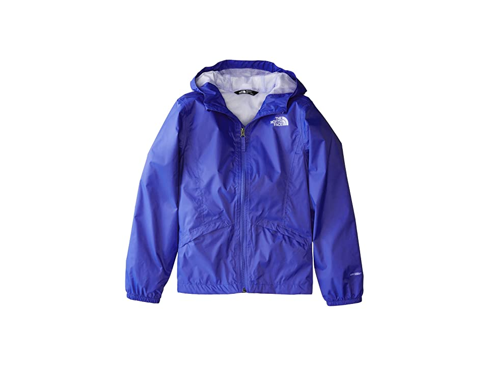 The North Face Kids Zipline Rain Jacket (Little Kids/Big Kids) (Dazzling Blue/Collar Blue/Collar Blue) Girl