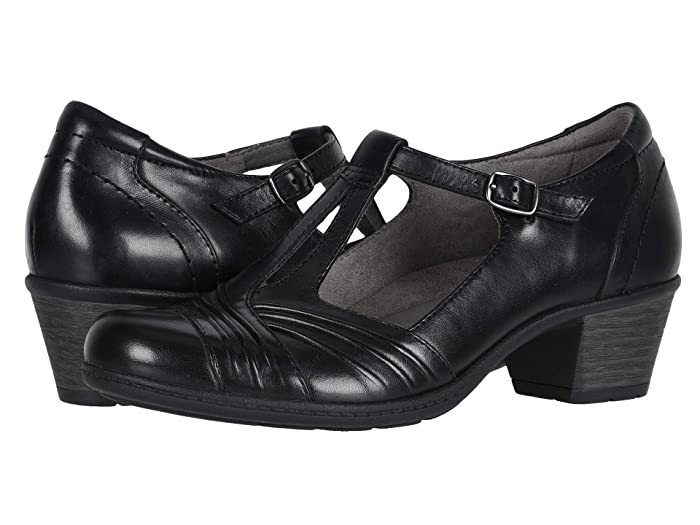 Retro Vintage Style Wide Shoes Earth Marietta Stellar Black Eco Calf Womens  Shoes $54.75 AT vintagedancer.com