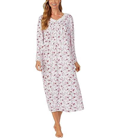 Eileen West Sweater Knit Ballet Nightgown (Floral Dot) Women