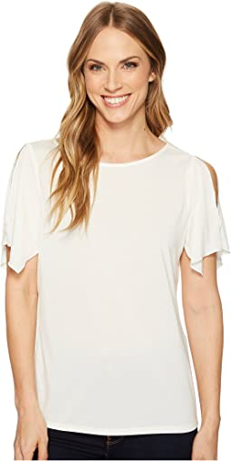 Ellen Tracy - Slit Flutter Sleeve Top