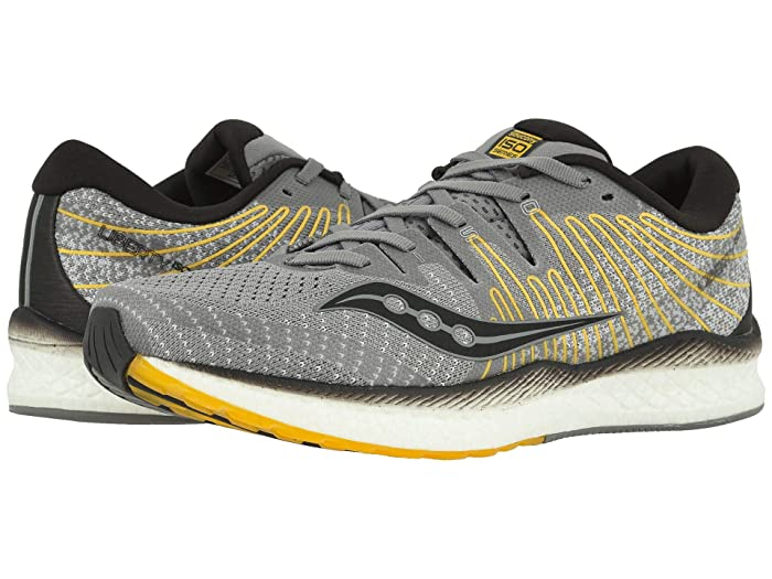 Saucony  Liberty ISO 2 (Grey/Yellow) Mens Shoes